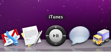 itunes icon in the dock